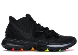 Nike  Kyrie 5 Black Rainbow Soles Black/Black-Black (AO2918-001)