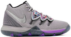 Nike  Kyrie 5 Graffiti (GS) Atmosphere Grey/Metallic Silver (AQ2456-001)