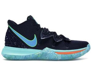 Nike  Kyrie 5 UFO Obsidian/Light Current Blue-Scream Green (AO2918-400/AO2919-400)