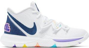 Nike  Kyrie 5 White Denim White/Deep Royal Blue-Glacier Blue (AO2918-101)