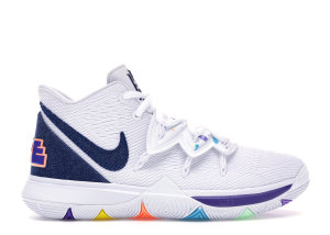 Nike  Kyrie 5 White Denim (GS) White/Deep Royal Blue-Glacier Blue (AQ2456-101)