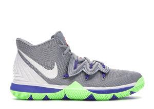 Nike  Kyrie 5 Wolf Grey Lime Blast (GS) Wolf Grey/White-Lime Blast (AQ2456-099)