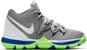 Nike  Kyrie 5 Wolf Grey Lime Blast (PS) Wolf Grey/White-Lime Blast (AQ2458-099)