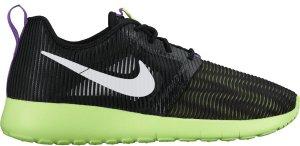 Nike  Roshe One Flight Weight Black Ghost Green (GS) Black/White-Ghost Green-Grape Ice (705486-003)