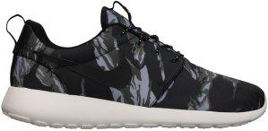 Nike  Roshe Run Black Tiger Camo Black/Black-Sail-Mercury Grey (555445-001)