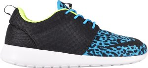 Nike  Roshe Run FB Blue Leopard Current Blue/Black-White-Volt (580573-402)