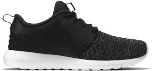 Nike  Roshe Run Flyknit PRM Black White Black/Black-Dark Grey-White (746825-001)