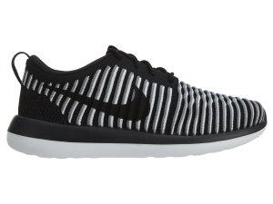 Nike  Roshe Two Flyknit Black Black White (W) Black/Black/White (844929-001)