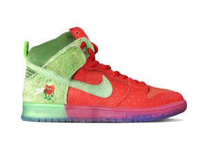 Nike  SB Dunk High Strawberry Cough University Red/Spinach Green-Magic Ember (CW7093-600)