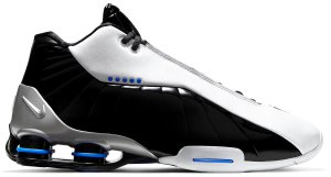 Nike  Shox BB4 Black Patent White/Metallic Silver-Black-Racer Blue (AT7843-102)