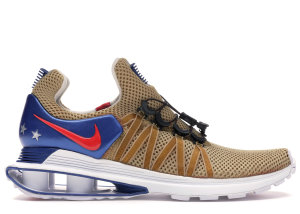 Nike  Shox Gravity World Cup (2018) Metallic Gold/White-Gym Blue-Speed Red (AR1999-700)