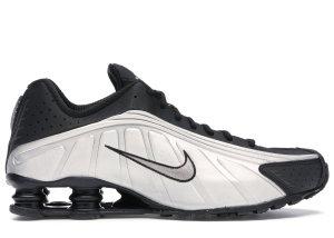 Nike  Shox R4 Black Metallic Silver Black/Black-Metallic Silver-Bright Crimson (104265-045)
