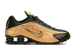 Nike  Shox R4 Metallic Gold Black Metallic Gold/Black (104265-702)