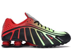 Nike  Shox R4 Neymar Black Black/Challenge Red-Metallic Silver (BV1387-001)