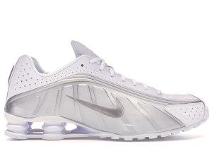 Nike  Shox R4 White Metallic Silver White/Metallic Silver-Bright Crimson-Metallic Silver (104265-131)