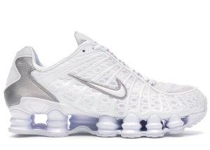 Nike  Shox TL White Metallic Silver White/Metallic Silver-Max Orange-White (AV3595-100)