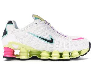Nike  Shox TL White Multi-Color (W) White/Black-Luminous Green-Bright Violet-Pink Blast-Aurora Green (AR3566-102)