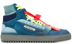 OFF-WHITE  Court High Blue Yellow FW19 Blue/Grey/Yellow (OMIA065F198000393031)