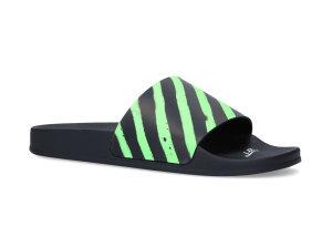 Off-White  Diagonal Stripe Slides Neon Green Green/Black (OMIA088R20C220521040)