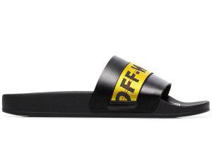 OFF-WHITE  Industrial Strap Slides Black Black (OMIA088R19C220381060)