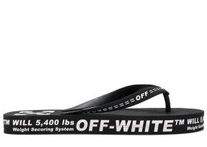 OFF-WHITE  Logo Typographic Flip Flop Black SS20 Black (OMIA131R20D270011000)