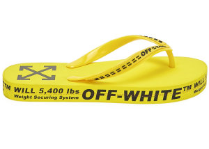 OFF-WHITE  Logo Typographic Flip Flop Yellow SS20 Yellow (OMIA131R20D270016000)