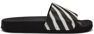 OFF-WHITE  Spray Stripes Slider Black Black (OWIA086R18797016-1001/OMIA087S19C22037-1001)