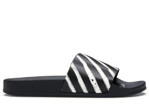 OFF-WHITE  Spray Stripes Slider Black White FW19 Black/White (OMIA088E19C220511001)