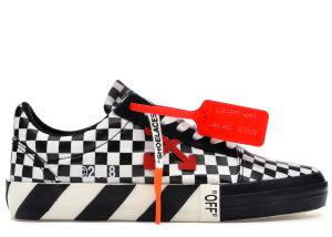 OFF-WHITE  Vulc Low Checkered Black White Black/White (OMIA085E18351001 9900)