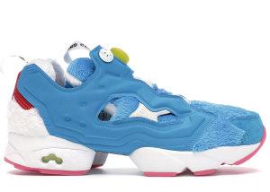 Reebok  Instapump Fury Packer Shoes X Atmos Doraemon Farout Blue/White-Instinct Blue (BS7368)
