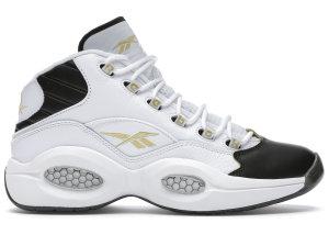 Reebok  Question Mid Black Toe White/Black-Gold (EF7599)