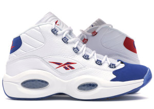 Reebok  Question Mid Double Cross White/Collegiate Royal-Primal Red (FV7563)