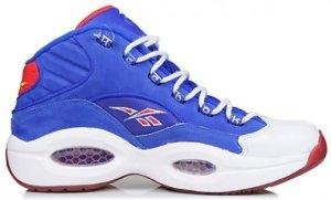 "Reebok  Question Mid Packer Shoes ""Practice"" Ultramarine Blue/White (J-99077)"