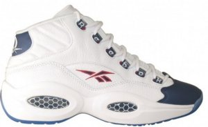 Reebok  Question Mid Pearlized Navy (2012) White/Pearlized Navy/Red (J-82534)