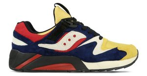 "Saucony  Grid 9000 Play Cloths ""Motocross"" Dress Blue/Chili Pepper Red-Mimosa Yellow (S70184-1)"