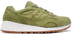 Saucony  Shadow 6000 Olive Suede (Packer Shoes) Olive/White (S70222-8)