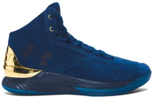 Under Armour  Curry 1 Mid Lux Blackout Navy Blackout Navy/Metallic Gold-Blackout Navy (1296617-997)