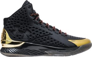 Under Armour  Curry 1 Shoe Palace 25th Anniversary Black/Gold-Red (3022392-001)