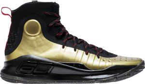 Under Armour  Curry 4 Shoe Palace 25th Anniversary Black/Gold-Red (3022393-001)