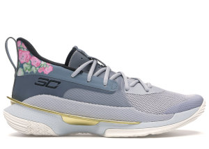 Under Armour  Curry 7 Floral Chinese New Year (2020) Grey/Midnight Turquoise-Gold-White (3021258-103)