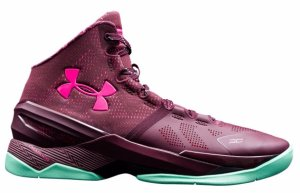Under Armour UA Curry 2 Black History Month Dark Maroon/Antifreeze/Mojo Pink (1259007-602)