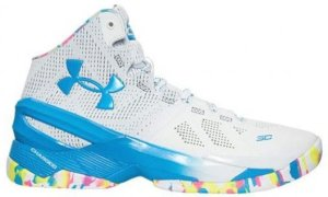 Under Armour UA Curry 2 Birthday White/Mojo Pink-Electric Blue (1259007-103)