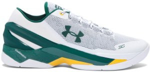 Under Armour UA Curry 2 Low Athletics White/Forest Green-Yellow (1264001-102)