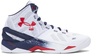 Under Armour UA Curry 2 USA White/Midnight/Red (1259007-105)