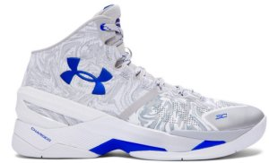 Under Armour UA Curry 2 Waves White/Metallic Silver/Blue (1259007-106)