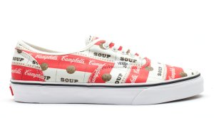 Vans  Authentic Supreme Campbells Soup White/Red/Gold (OQOD6VL)