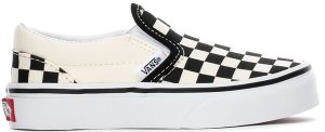 Vans  Classic Slip-On Checkerboard (PS) Black/White (VN000ZBUEO1)