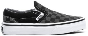 Vans  Classic Slip-On Checkerboard Pewter (PS) Black/Pewter (VN000ZBUEO0)