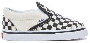 Vans  Classic Slip-On Checkerboard (TD) Black/White (VN000EX8BWW)