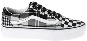 Vans  Old Skool Platform Plaid Checkerboard (W) Black/True White (VN0A3B3UVYD)